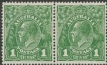 SG 86 ACSC 80(4)k., 80(4)l. KGV Head 1d Green pair (AHSMP/310)